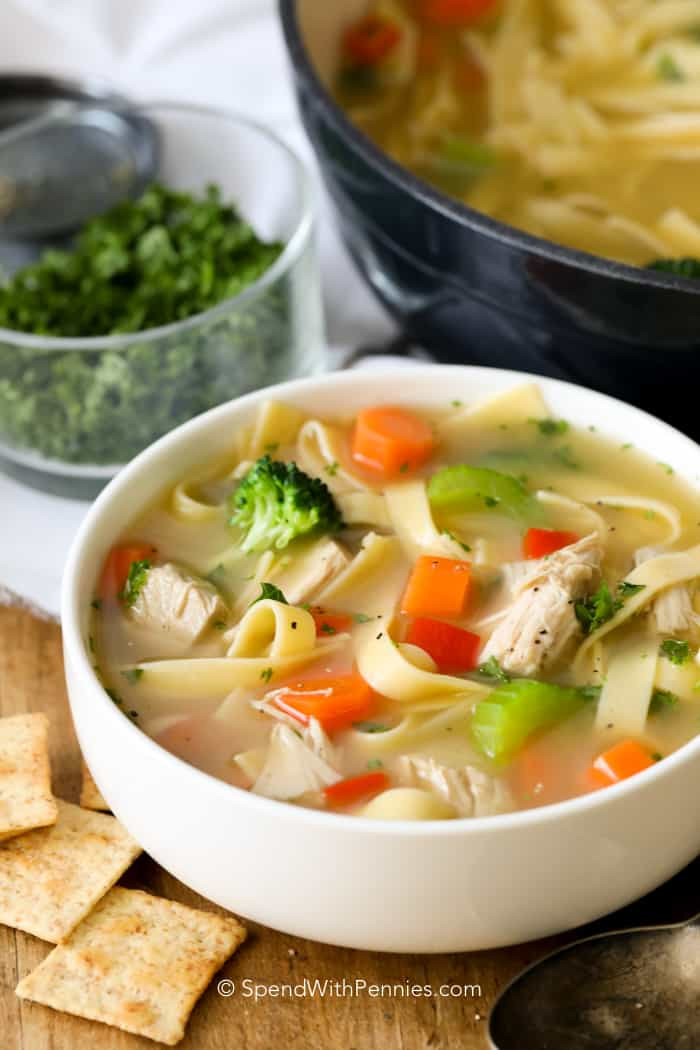 How To Make Chicken Soup  Homemade Chicken Noodle Soup Spend With Pennies