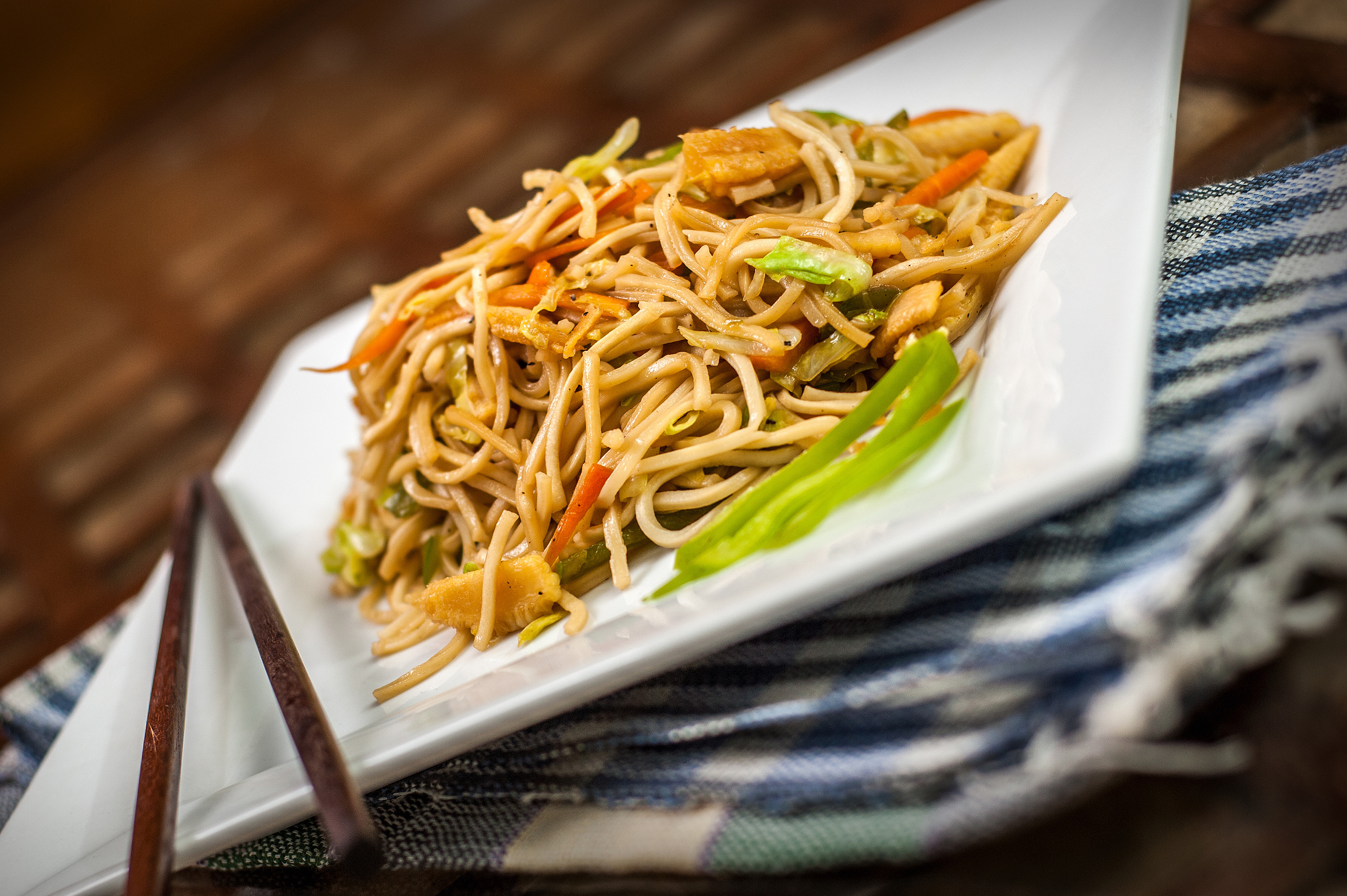 How To Make Chinese Noodles  How to Make Chinese Noodles and Ve ables 7 Steps