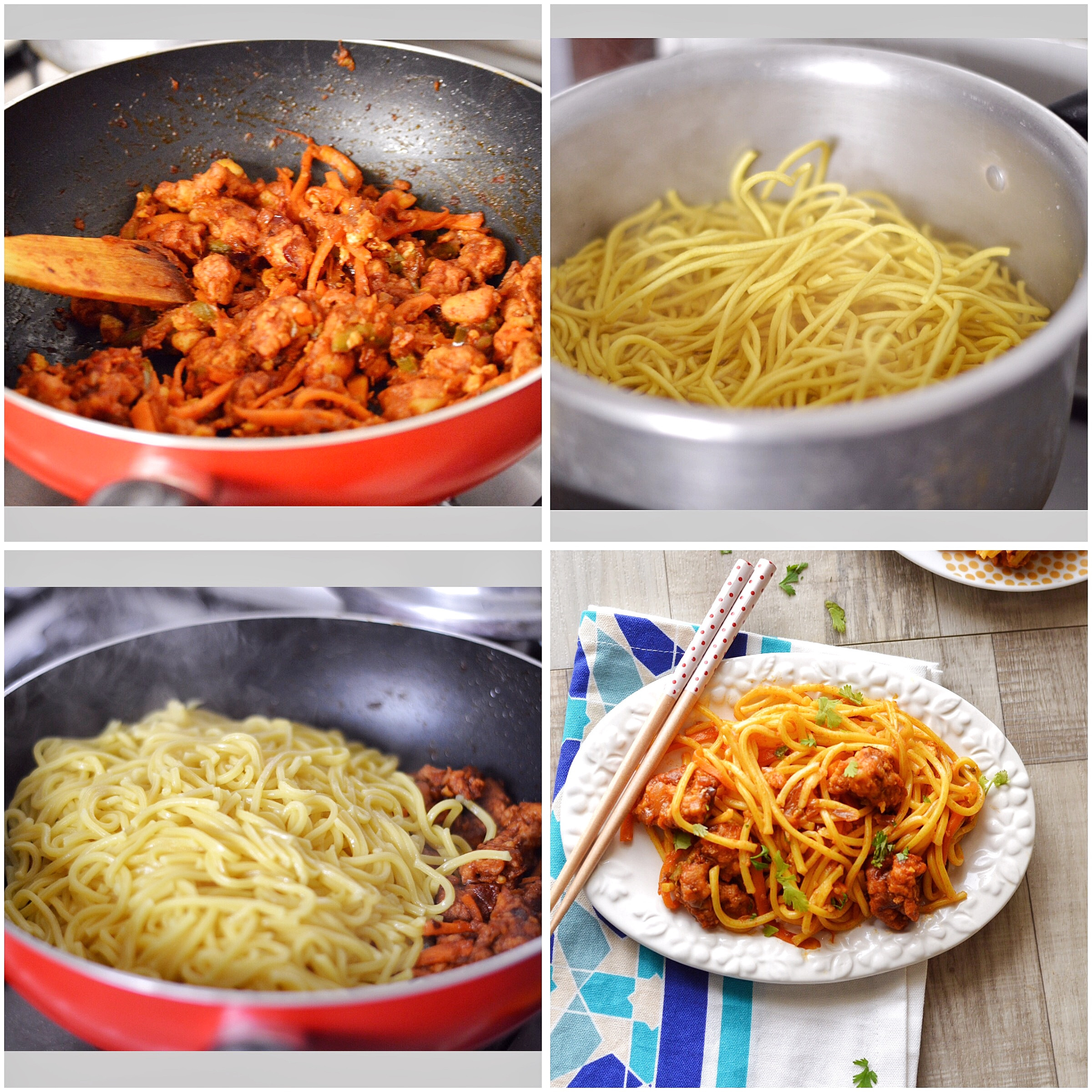 How To Make Chinese Noodles  Spicy Chicken Chinese Noodles Savory&SweetFood