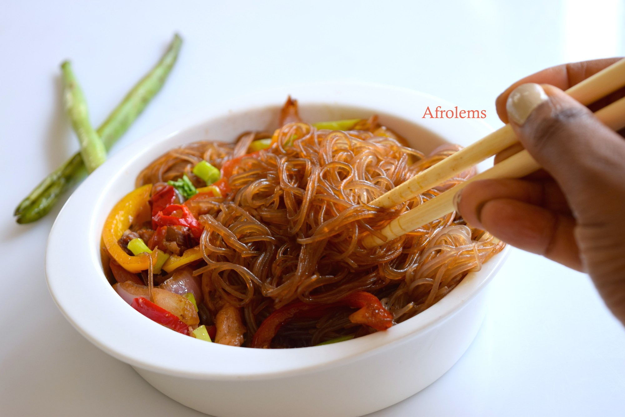 How To Make Chinese Noodles  Stir Fried Noodles with Chicken Afrolems Nigerian Food Blog