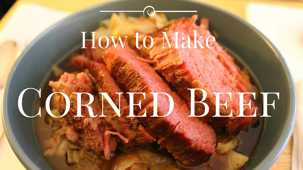 How To Make Corned Beef Brisket  How to Make Corned Beef Brisket Braised in Guinness