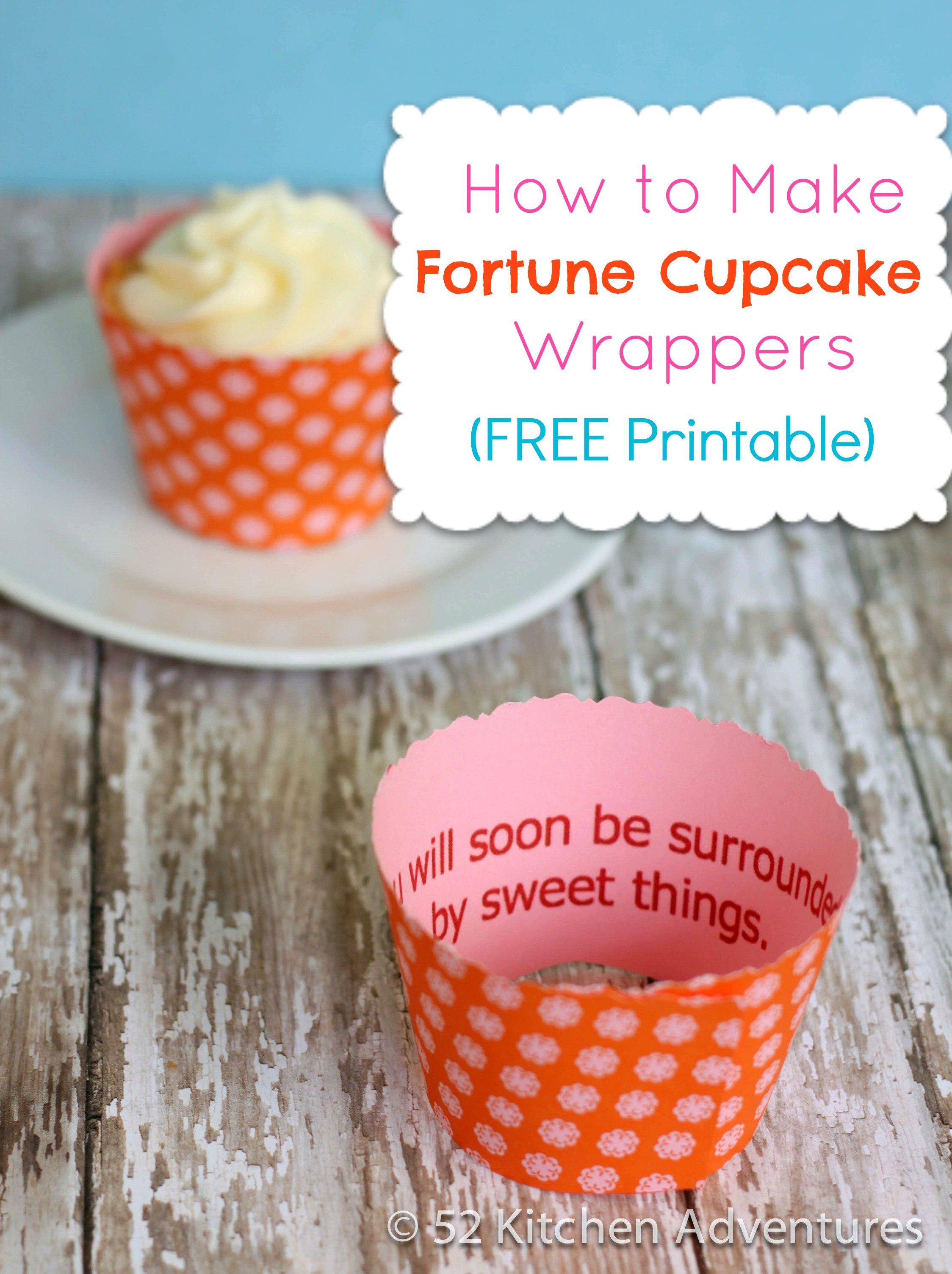 How To Make Cupcakes  How to Make Fortune Cupcakes Free Printable