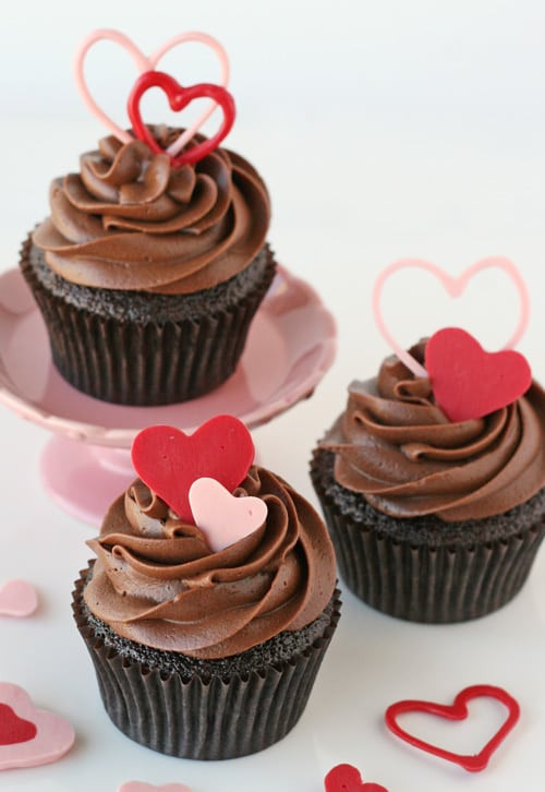 How To Make Cupcakes  How to Make Heart Accents for Cupcakes