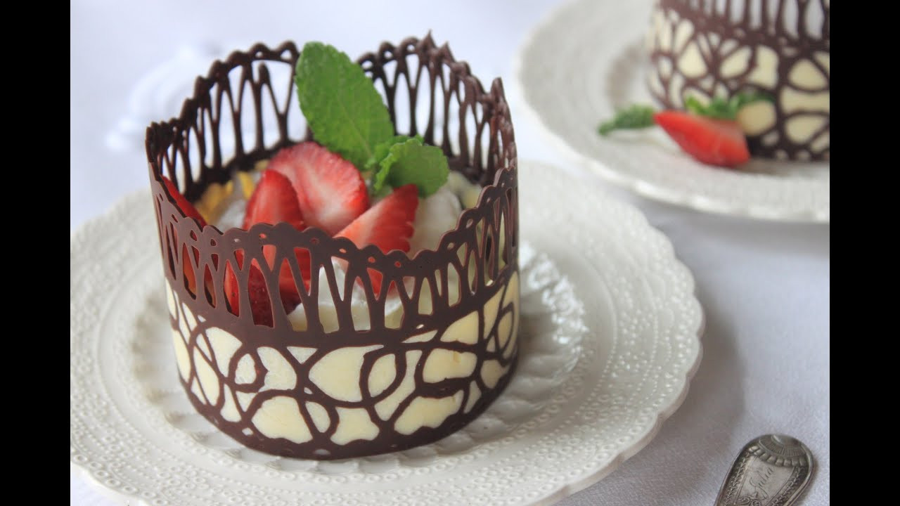 How To Make Desserts  How to Make Chocolate Lace Dessert Cups