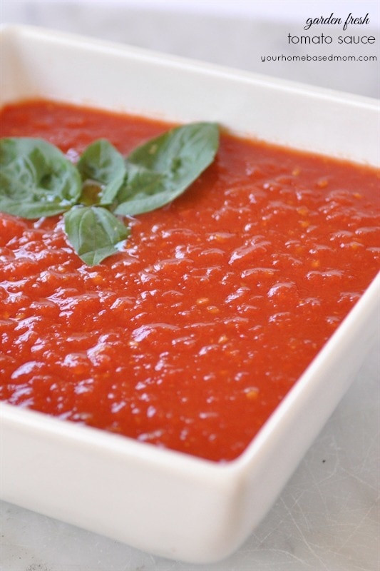 How To Make Fresh Tomato Sauce  How To Make Fresh Tomato Sauce your homebased mom
