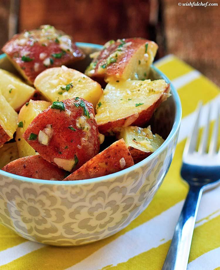 How To Make German Potato Salad  Easy No Mayo German Potato Salad Wishful Chef