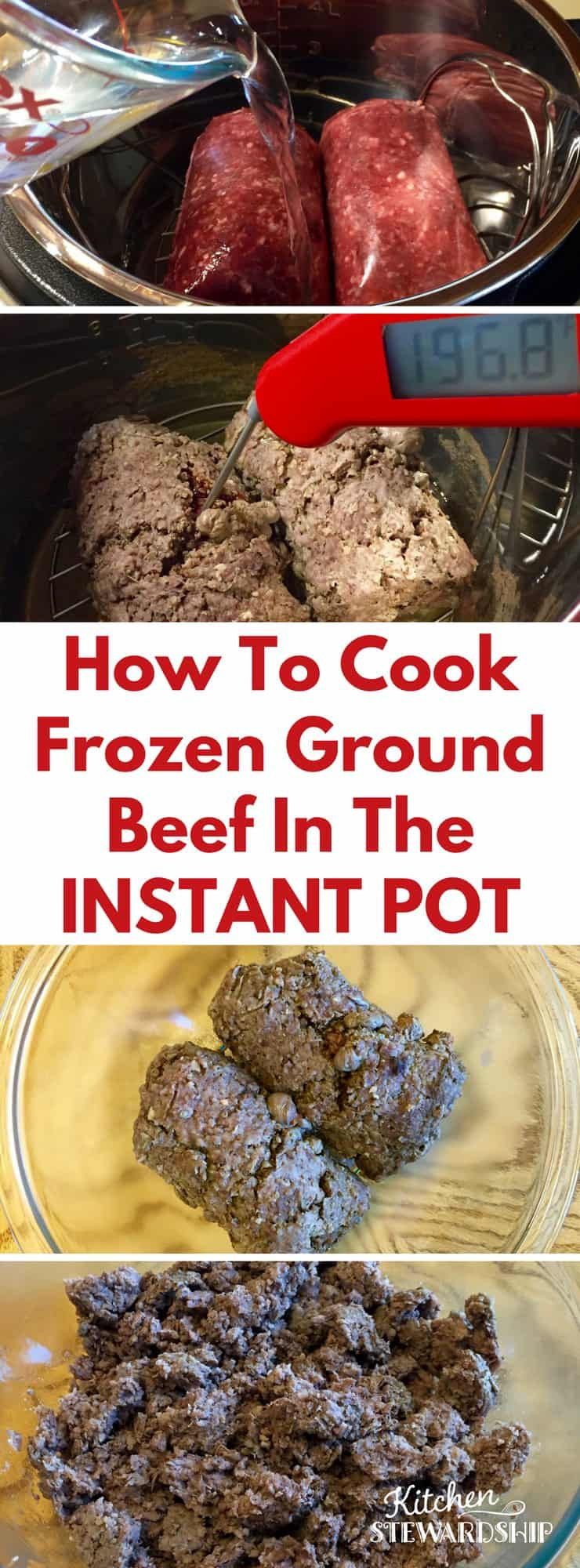 How To Make Ground Beef  How to Cook FROZEN Ground Beef in the Instant Pot Pressure