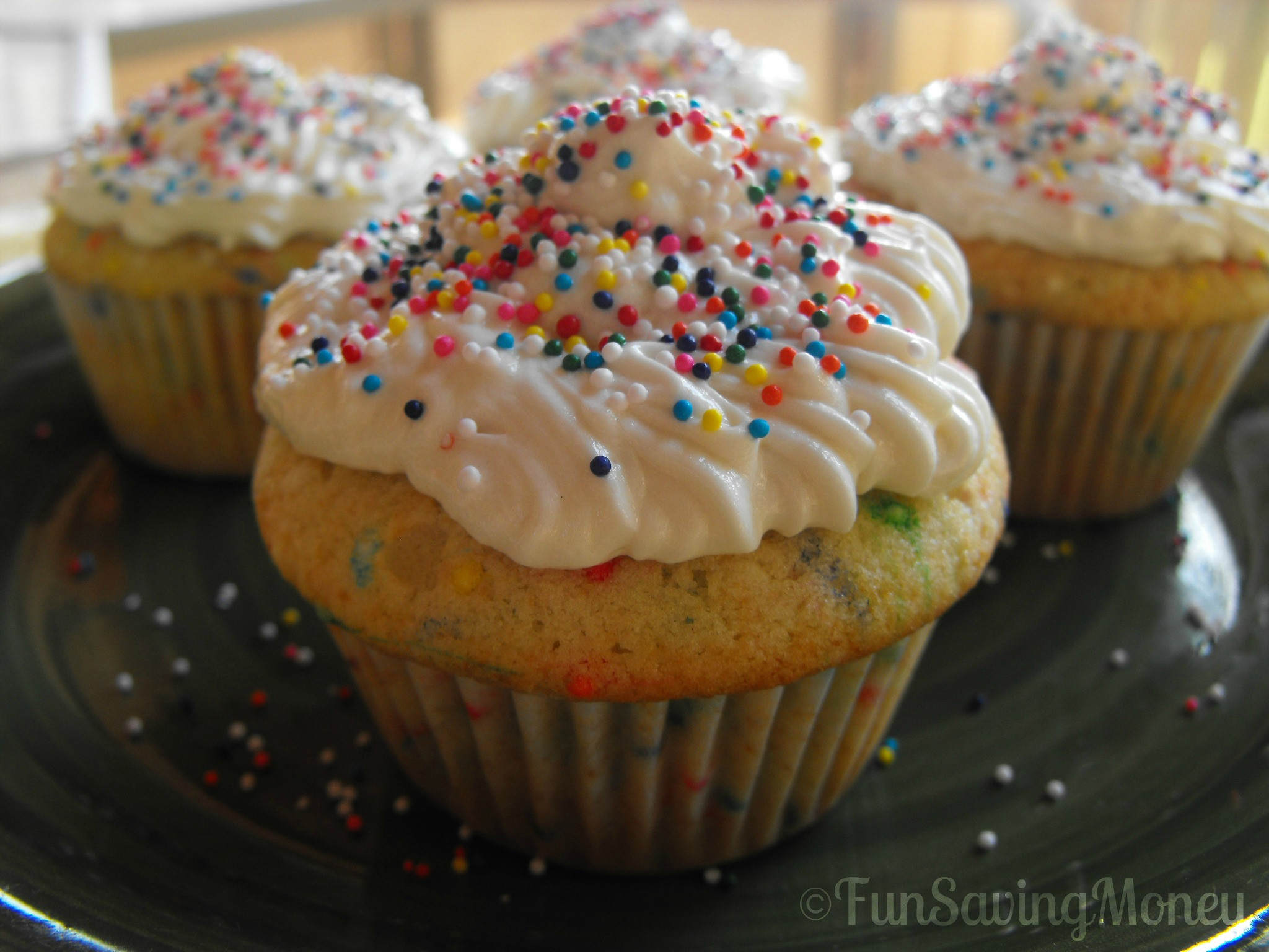 How To Make Homemade Cupcakes  Homemade Funfetti Cupcakes With ButterCream Frosting