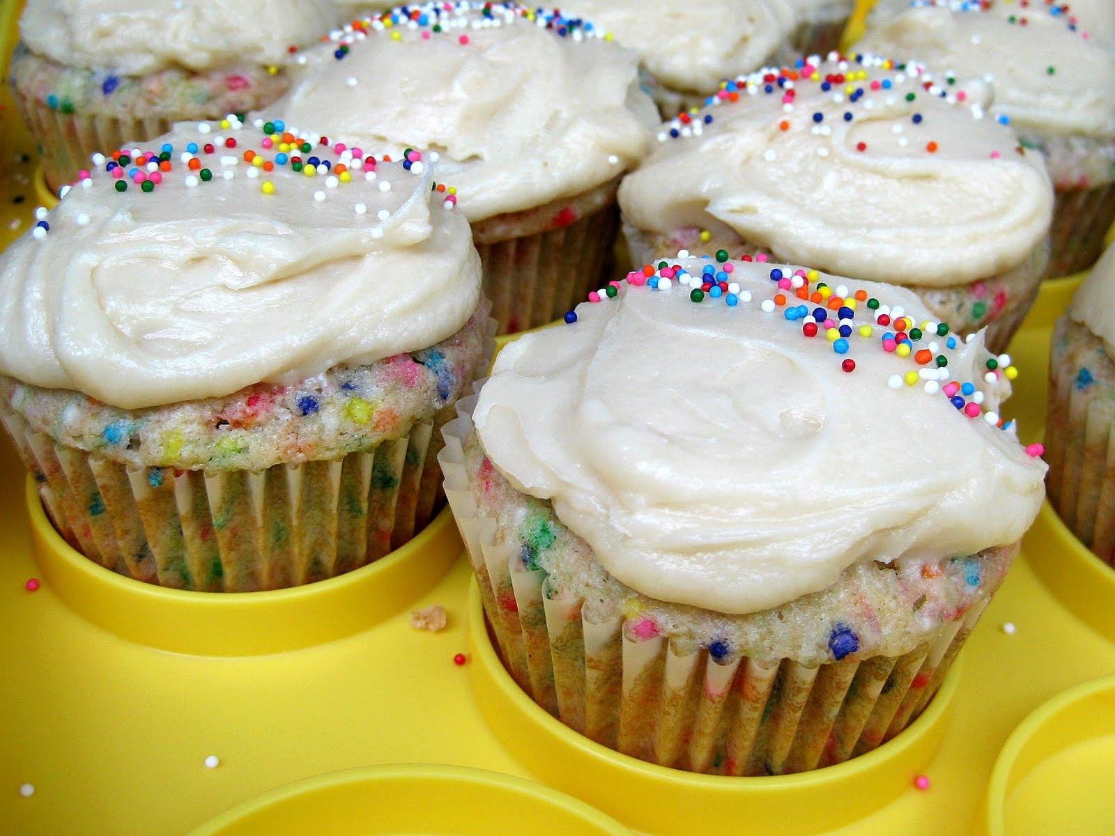 How To Make Homemade Cupcakes  Homemade Funfetti Cupcakes with Vanilla Buttercream