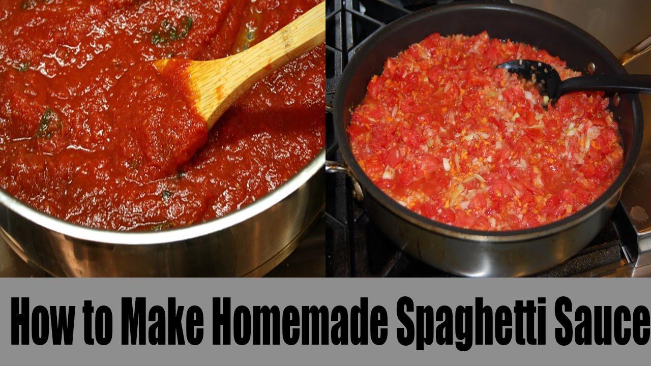 How To Make Homemade Pasta Sauce  How to Make Homemade Spaghetti Sauce With Fresh Tomatoes