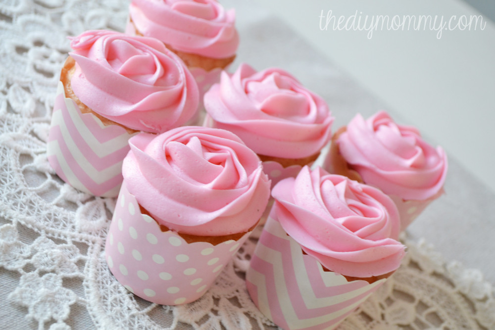 How To Make Icings For Cupcakes  How to make icing roses on cupcakes with a 1M tip