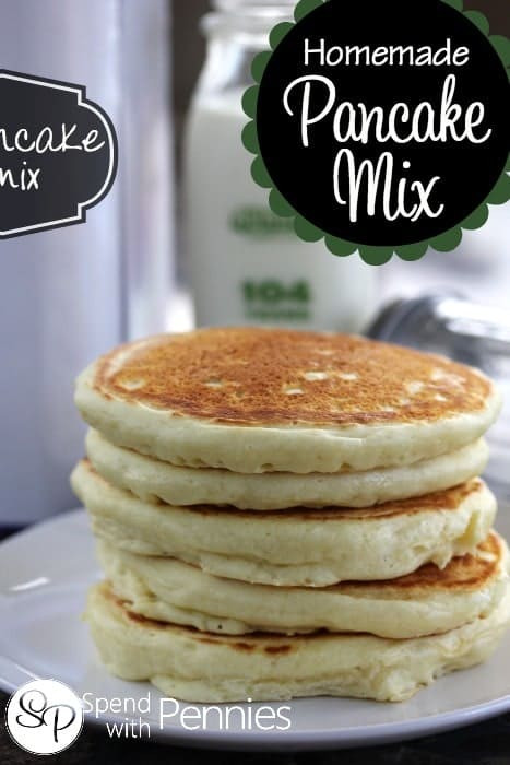 How To Make Pancakes With Mix  Homemade Pancake Mix Recipe So Easy  Spend with Pennies