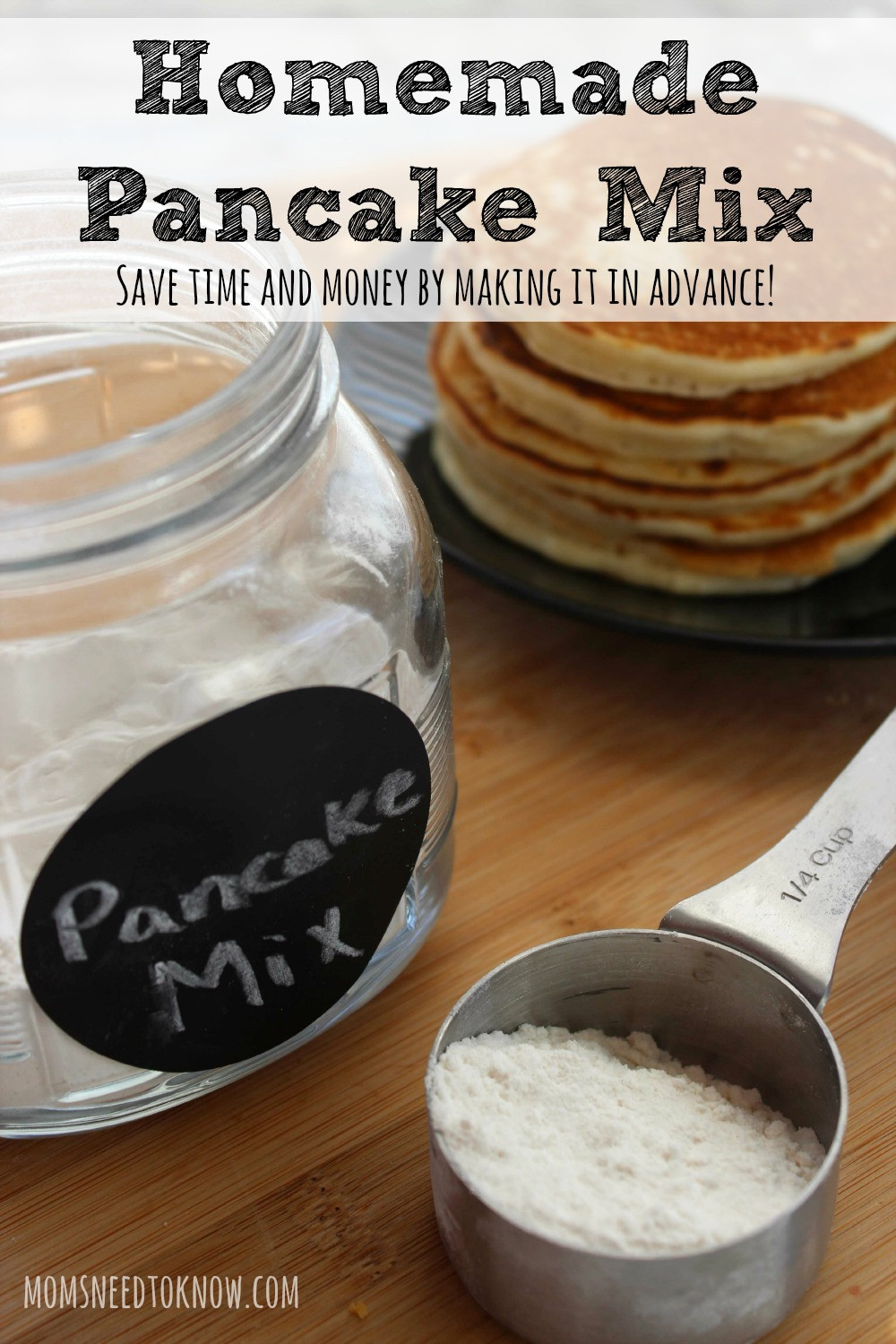 How To Make Pancakes With Mix  How To Make Your Own Homemade Pancake Mix