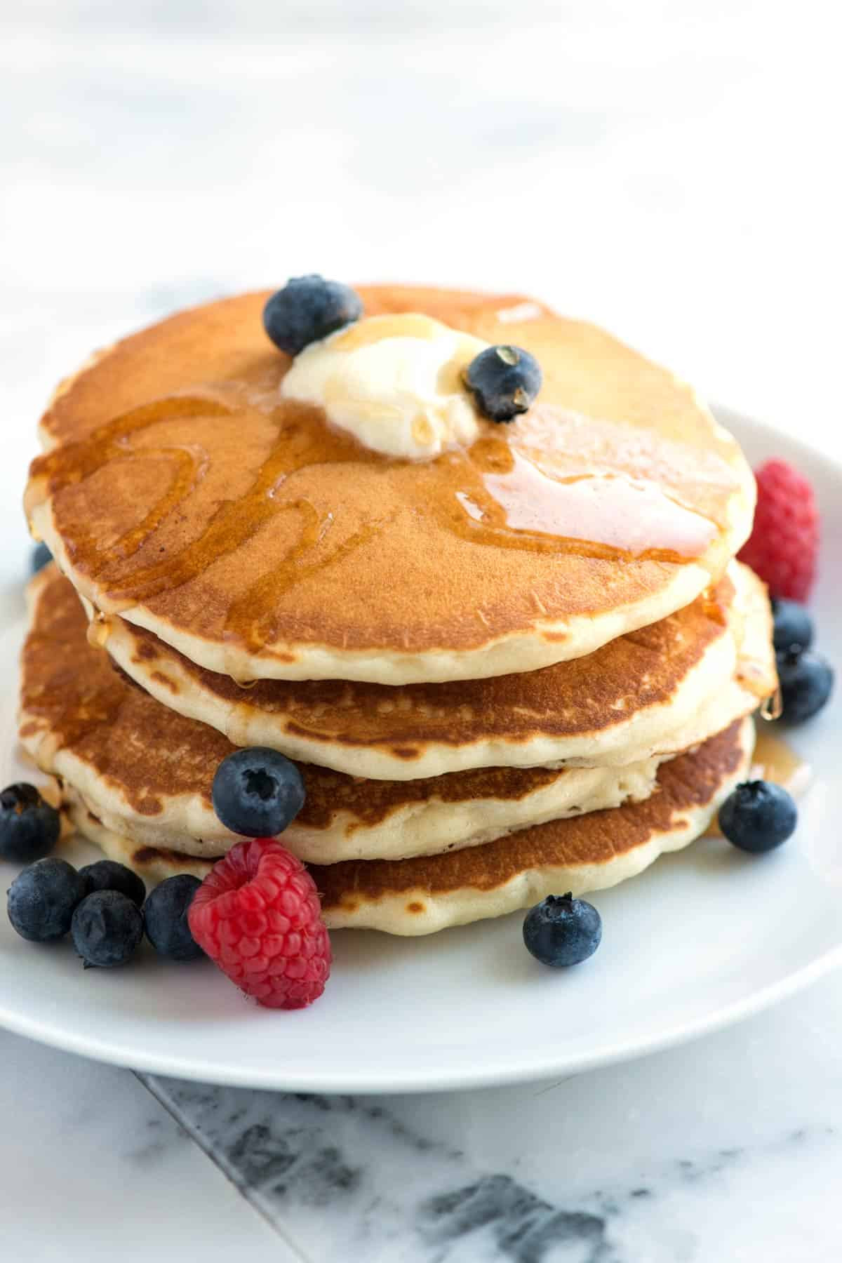 How To Make Pancakes With Mix  Easy Fluffy Pancakes Recipe from Scratch