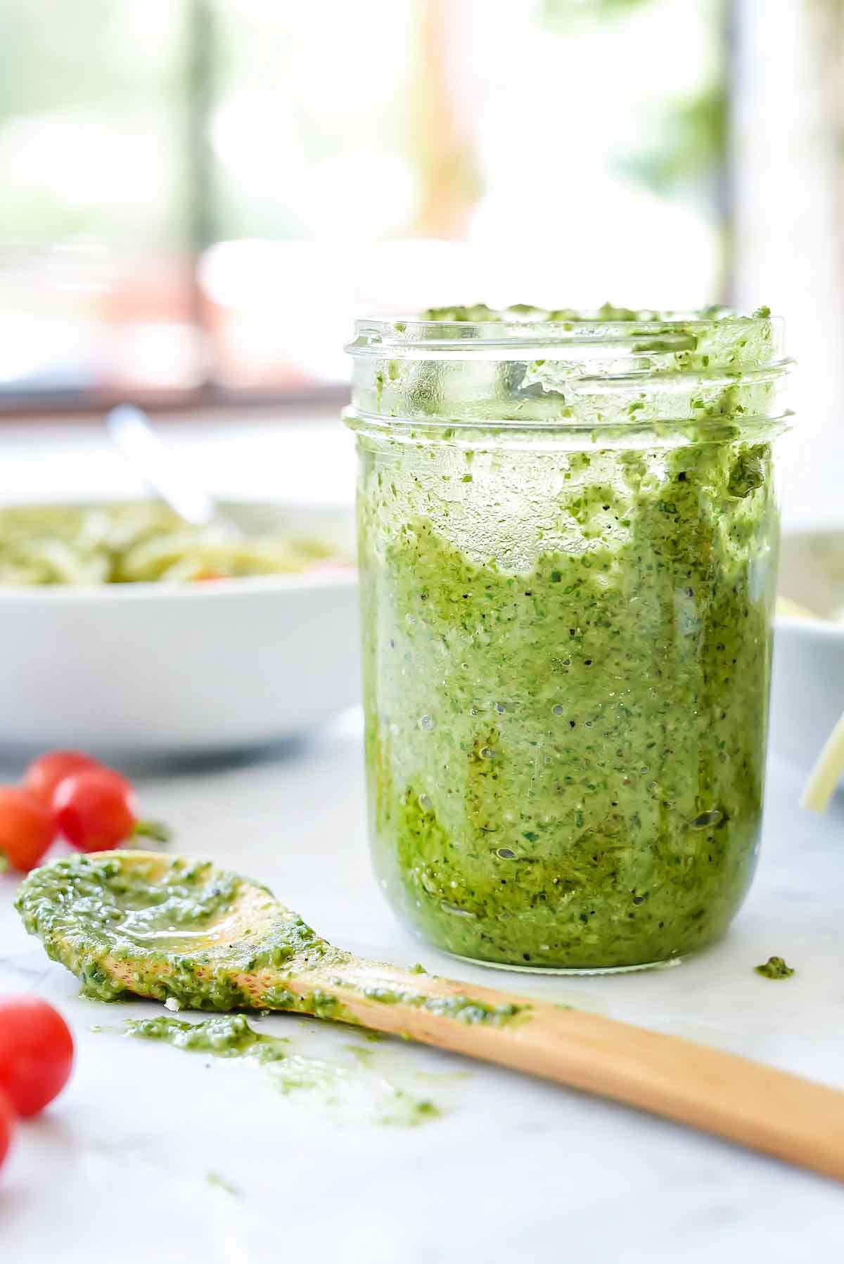 How To Make Pesto Sauce  Easy Homemade Pesto Pasta Recipe