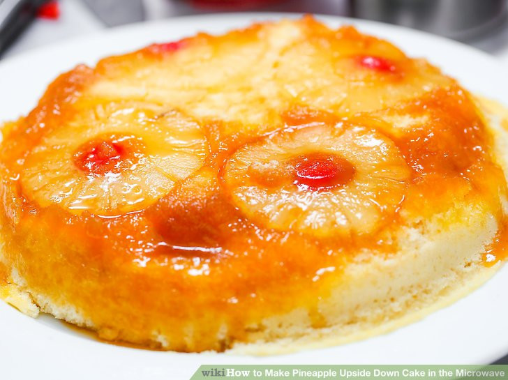 How To Make Pineapple Upside Down Cake  How to Make Pineapple Upside Down Cake in the Microwave