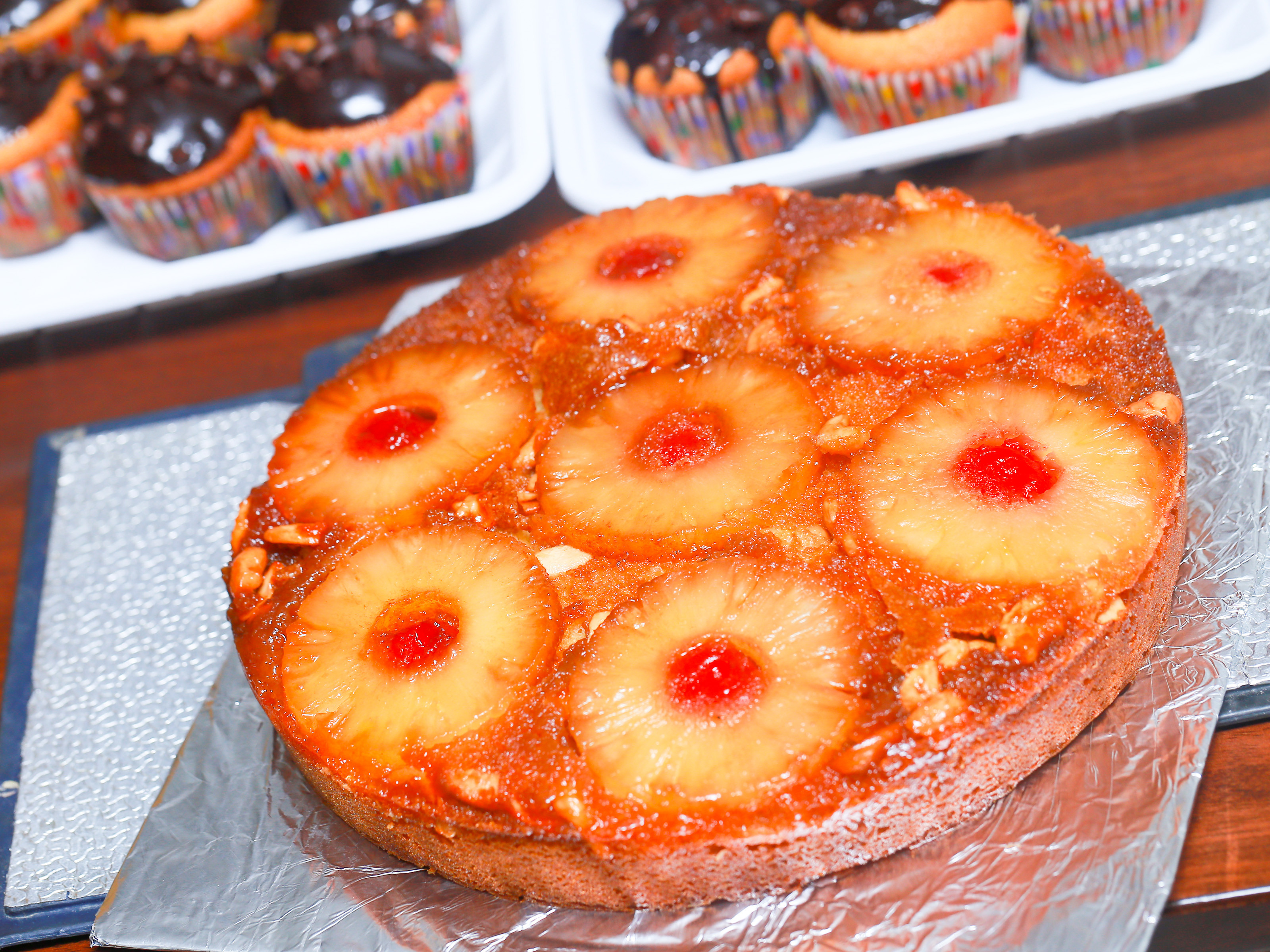 How To Make Pineapple Upside Down Cake  How to Make a Pineapple Upside Down Cake 14 Steps with