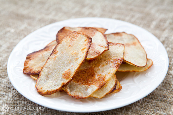 How To Make Potato Chips In The Oven  Oven fried Potato Chips Recipe