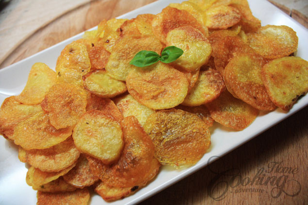 How To Make Potato Chips In The Oven  Homemade Baked Potato Chips Home Cooking Adventure