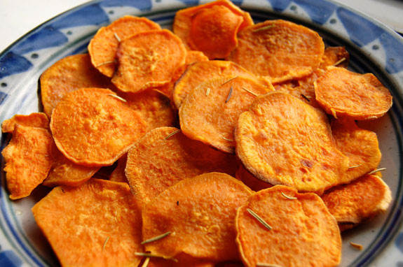 How To Make Potato Chips In The Oven  Easy Homemade Sweet Potato Chips OMG So Good