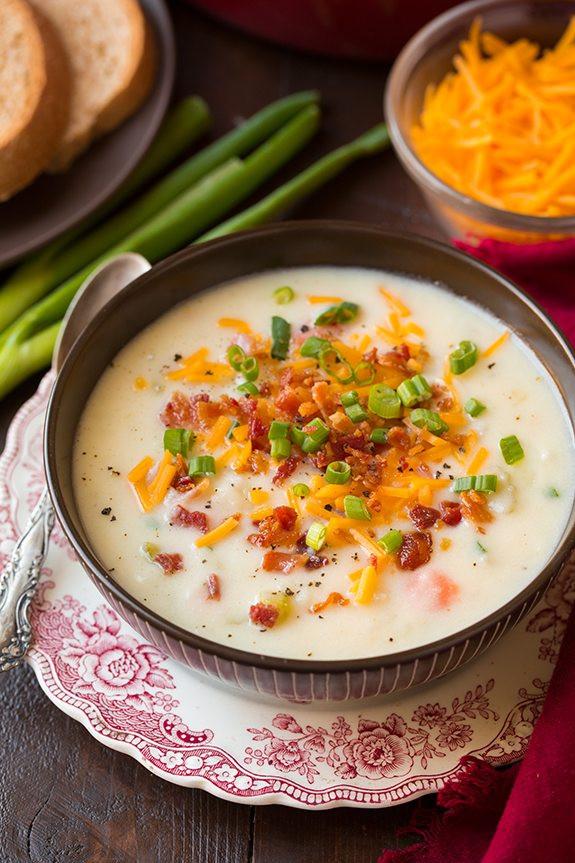 How To Make Potato Soup  Creamy Potato Soup Cooking Classy