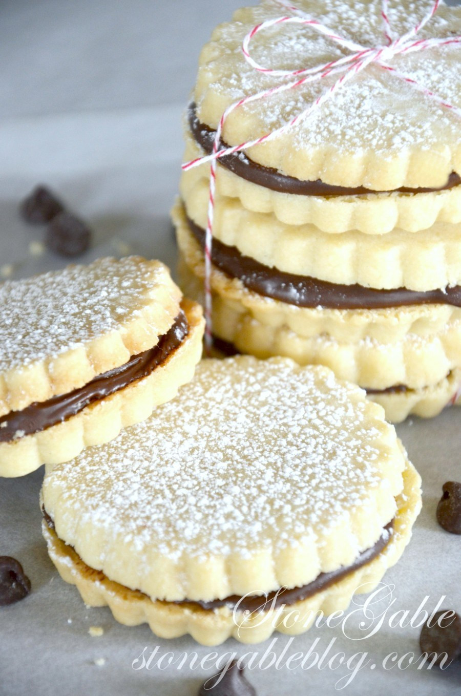 How To Make Shortbread Cookies  CHOCOLATE FILLED SHORTBREAD COOKIES StoneGable
