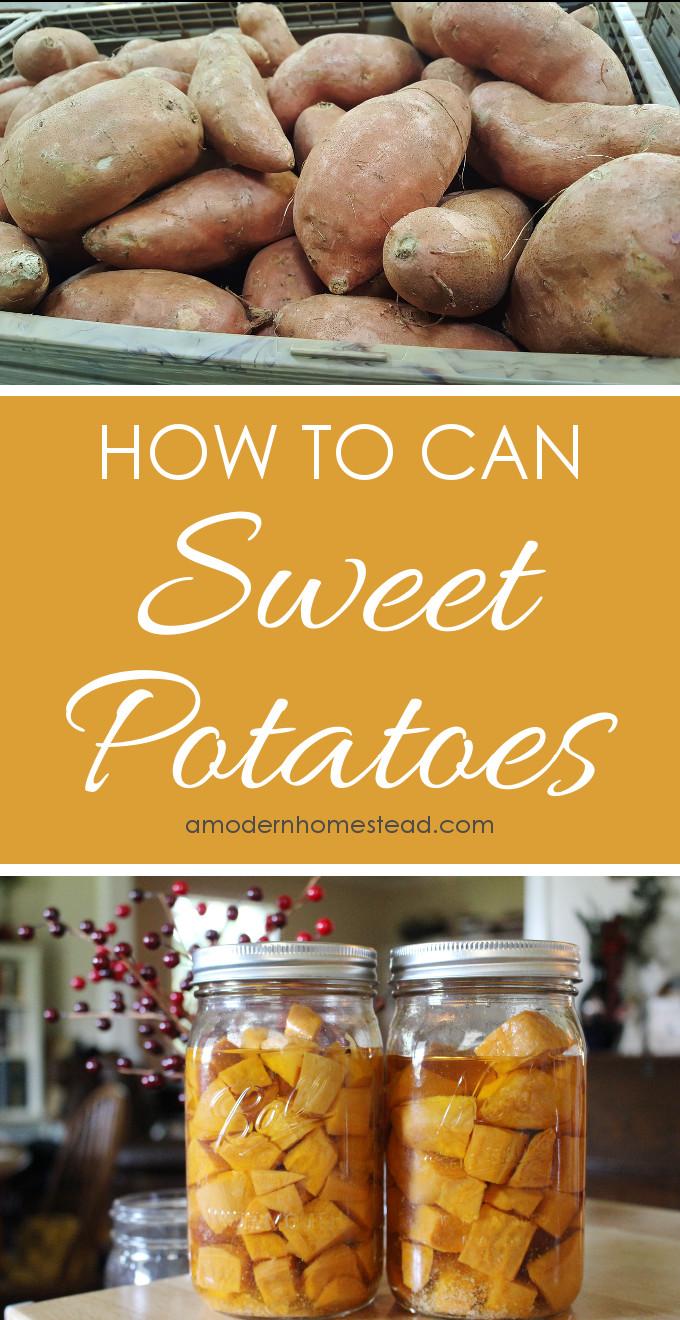 How To Make Sweet Potato  How to Can Sweet Potatoes