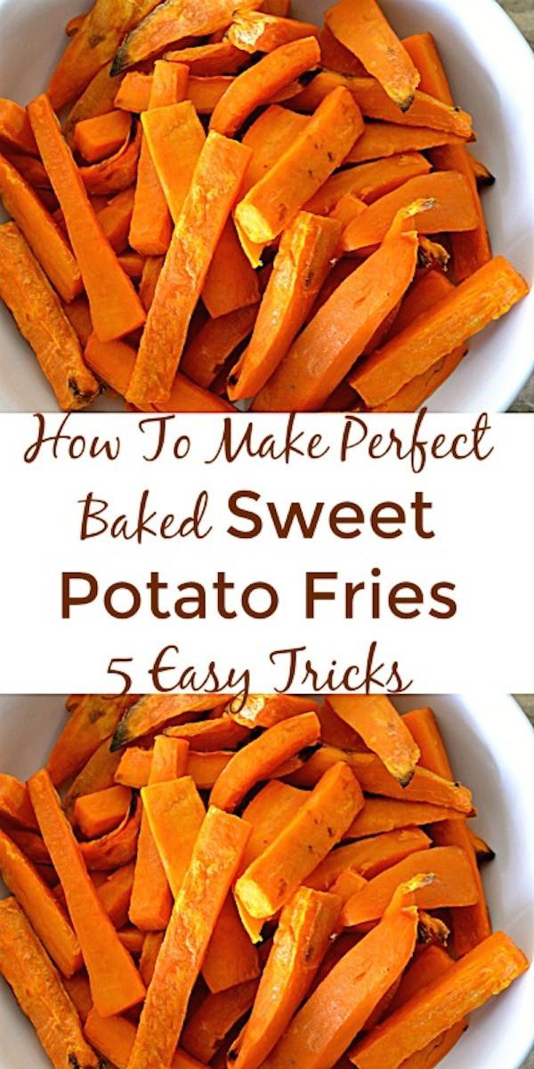 How To Make Sweet Potato  How To Make Perfect Baked Sweet Potato Fries