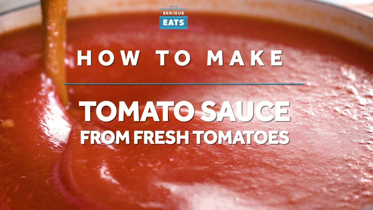 How To Make Tomato Sauce From Fresh Tomatoes  How to Make Tomato Sauce from Fresh Tomatoes