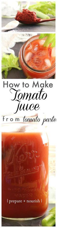 How To Make Tomato Sauce From Tomato Paste  Best No Added Salt Tomato Paste Recipe on Pinterest