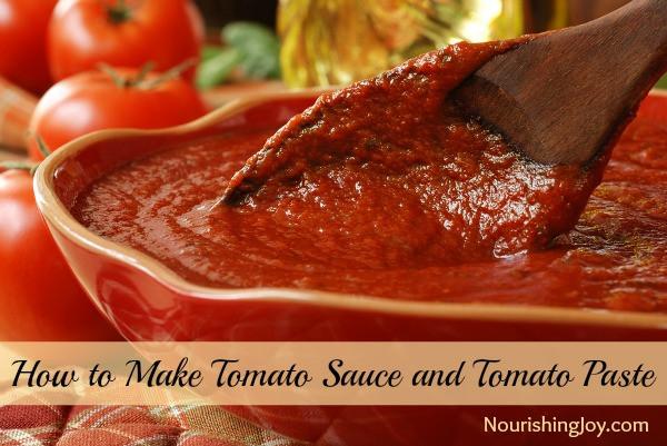 How To Make Tomato Sauce From Tomato Paste  How to Make Tomato Sauce and Tomato Paste Nourishing Joy