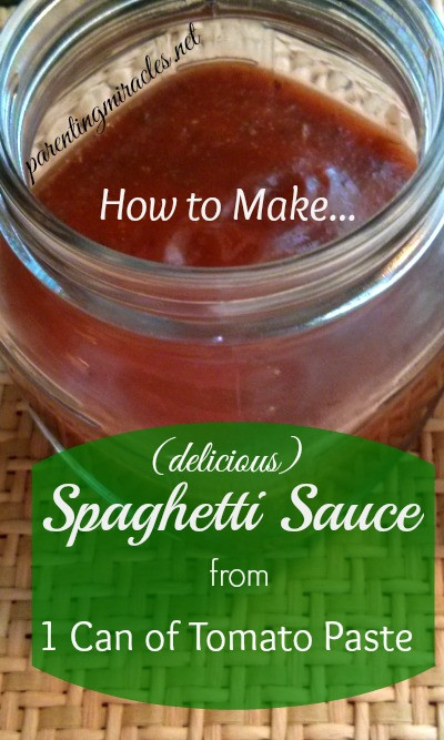 How To Make Tomato Sauce From Tomato Paste  How to Make Spaghetti Sauce from Tomato Paste Parenting