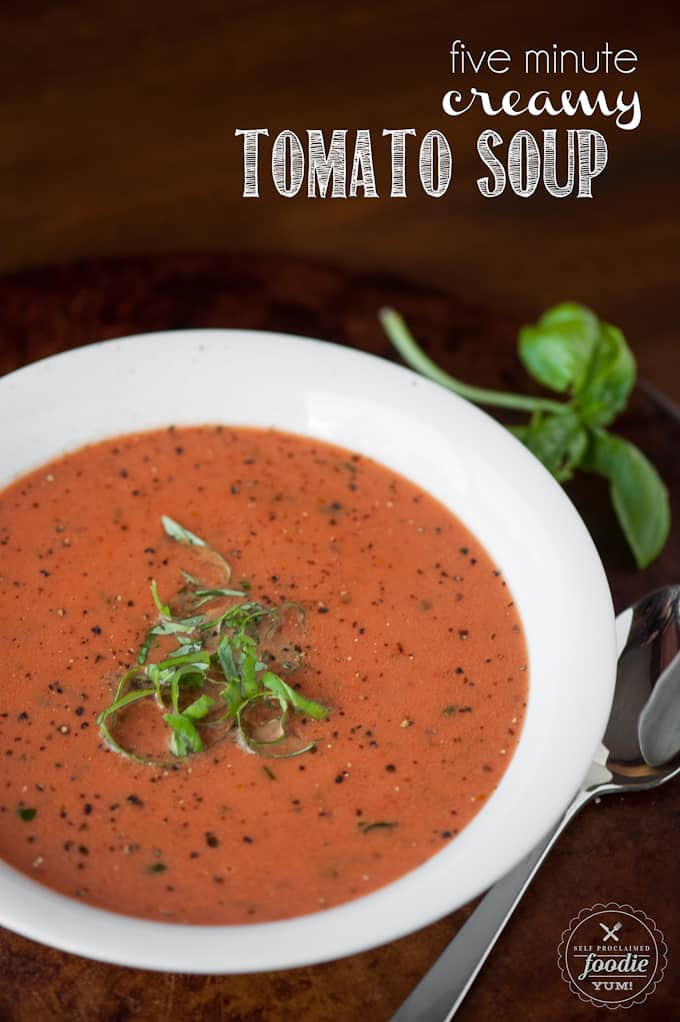 How To Make Tomato Soup From Tomato Sauce  Five Minute Cream of Tomato Soup