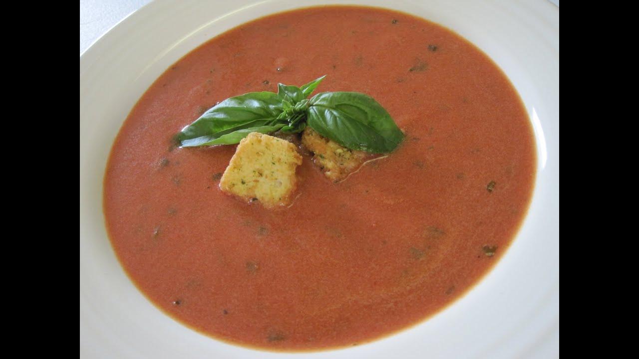 How To Make Tomato Soup  TOMATO SOUP How to make TOMATO BASIL SOUP Recipe
