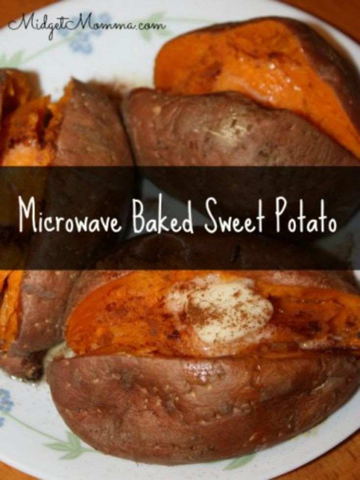 How To Microwave Sweet Potato  Easy & Delicious Microwave Baked Sweet Potato