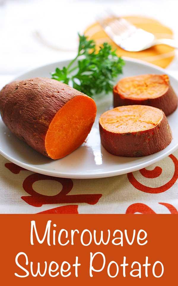 How To Microwave Sweet Potato  microwave sweet potato