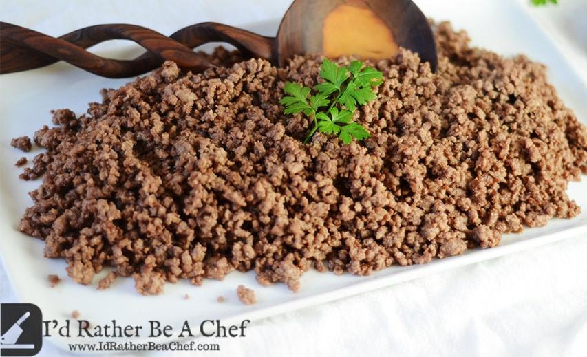 How To Season Ground Beef  Seasoned Ground Beef Recipe