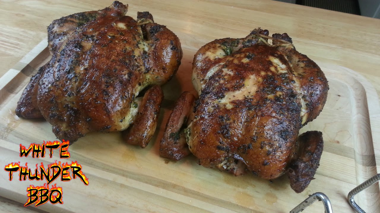 How To Smoke A Whole Chicken  Smoked Herb Rubbed Chicken Recipe How to smoke a whole