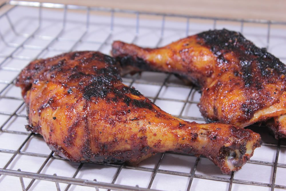 How To Smoke Chicken Legs  Smoked & Grilled Chicken Quarters Smoking Meat Newsletter