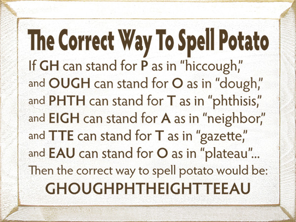 How To Spell Potato  How to spell potato pgbari x fc2