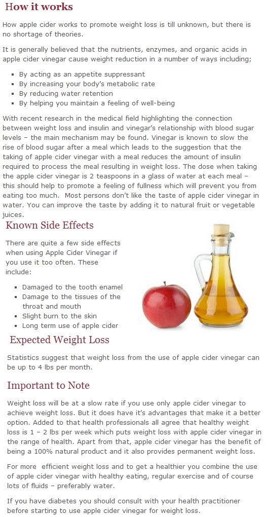 How To Take Apple Cider Vinegar For Weight Loss  how to use apple cider vinegar for weight loss