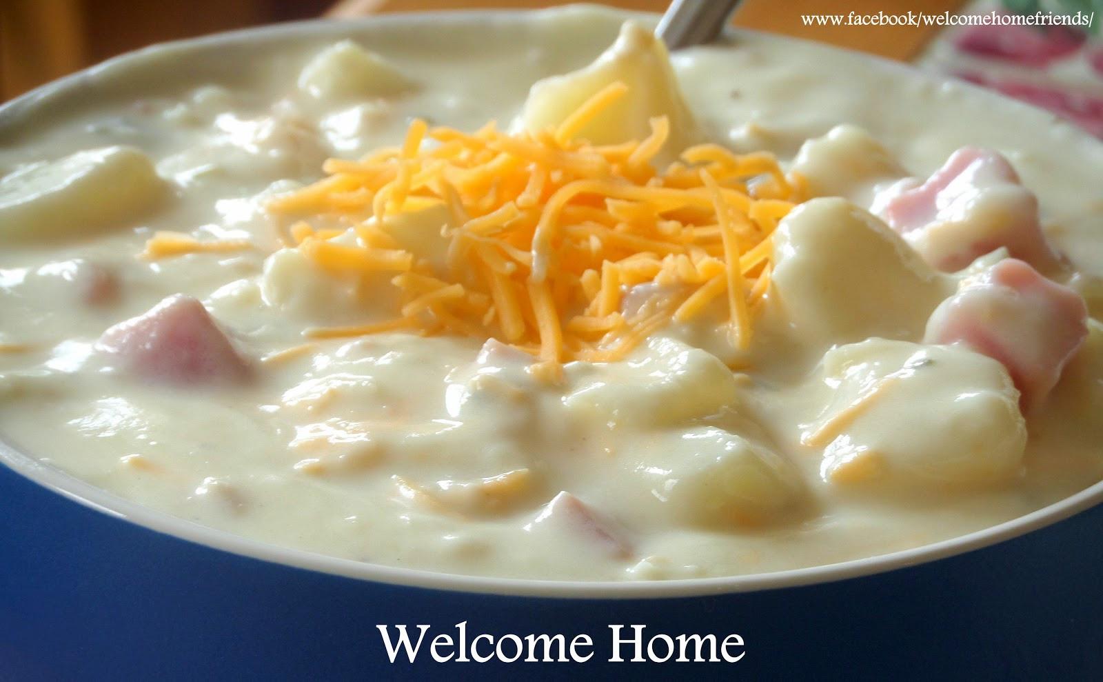 How To Thicken Potato Soup  Wel e Home Blog ♥ Thick and Creamy Potato Soup and Ham