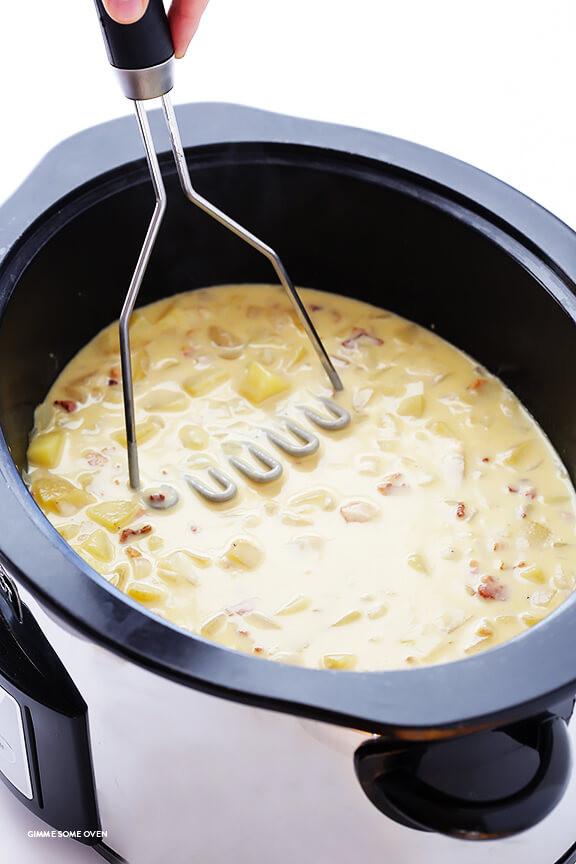 How To Thicken Potato Soup  Slow Cooker Potato Soup