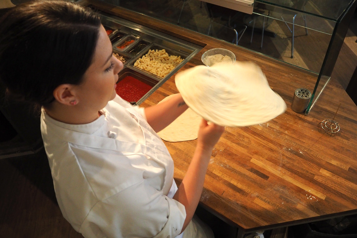 How To Toss Pizza Dough  Giulia s Fresh Pizza Dough on CTV Morning Live Lombardo