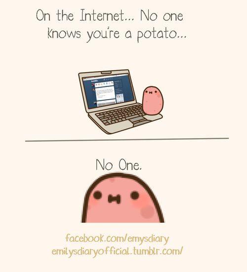 I Am A Potato  Kawaii potato A potato and Kawaii on Pinterest