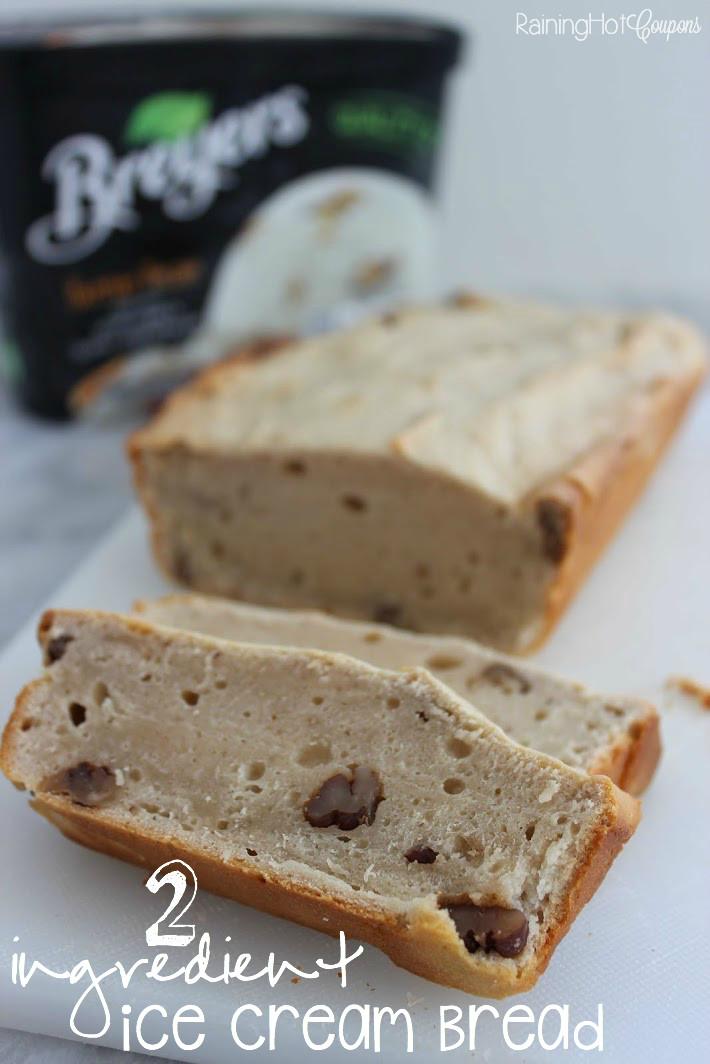 Ice Cream Bread Recipe  2 Ingre nt Ice Cream Bread