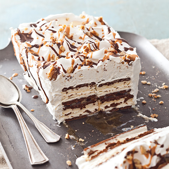 Ice Cream Sandwich Desserts Recipes  Turtle Ice Cream Sandwich Cake Paula Deen Magazine
