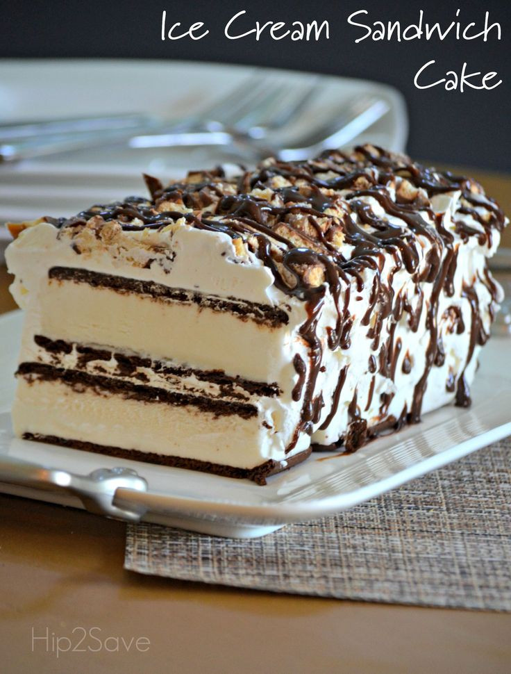 Ice Cream Sandwich Desserts Recipes  Super Easy Ice Cream Sandwich Cake Recipe