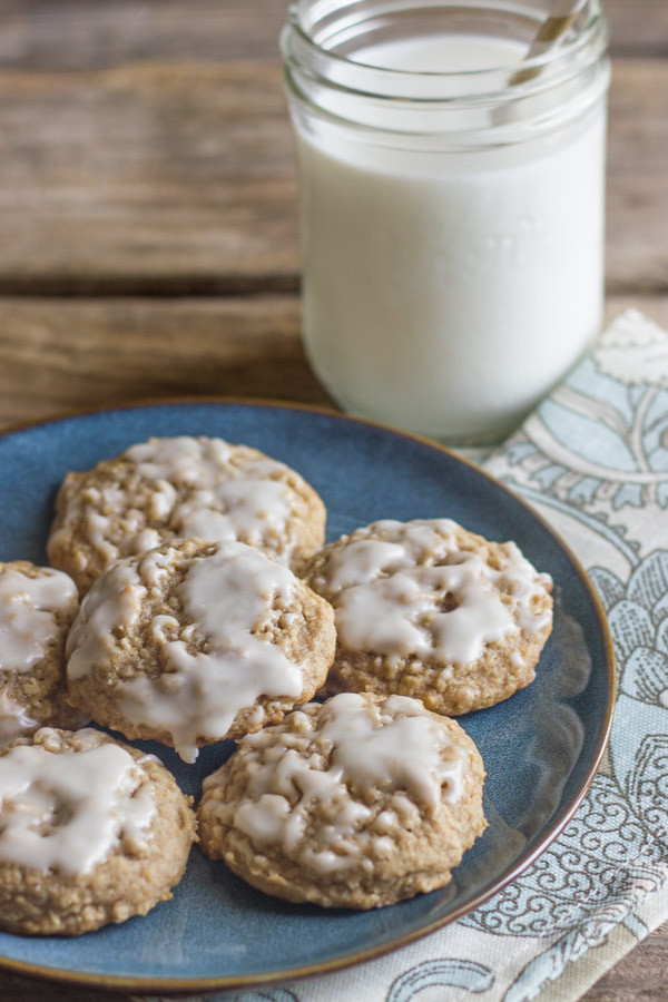 Iced Oatmeal Cookies  Maple Iced Oatmeal Cookies Lovely Little Kitchen
