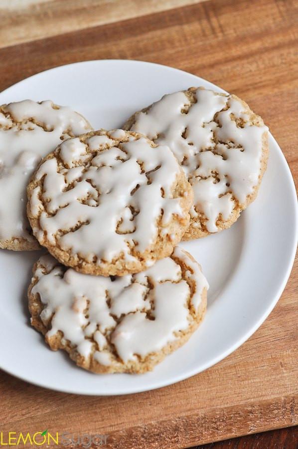 Iced Oatmeal Cookies  Iced Oatmeal Cookies Lemon Sugar